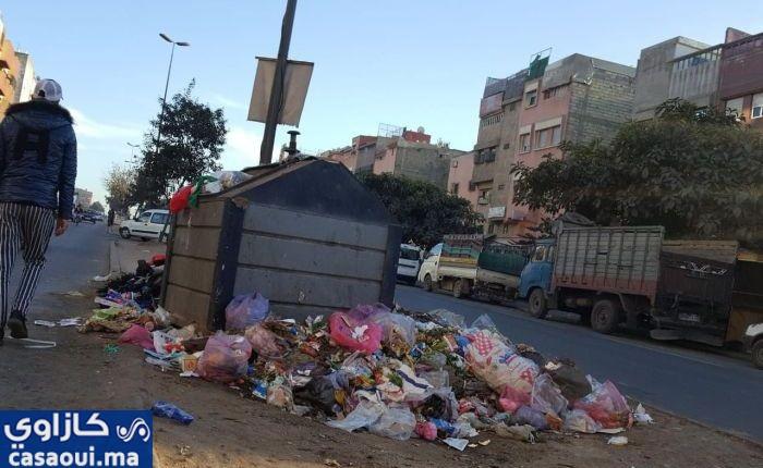 """صورة """" كازاوي"""" : أزبال  تحول الدار البيضاء الى دار للسواد"""