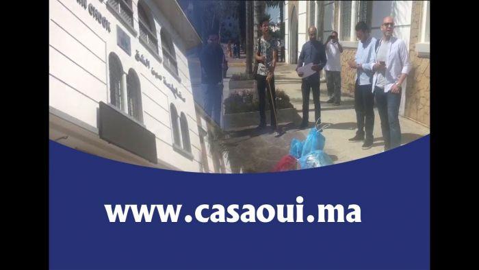 احتجاج مواطنين على تردي خدمات النظافة بمقاطعة عين الشق