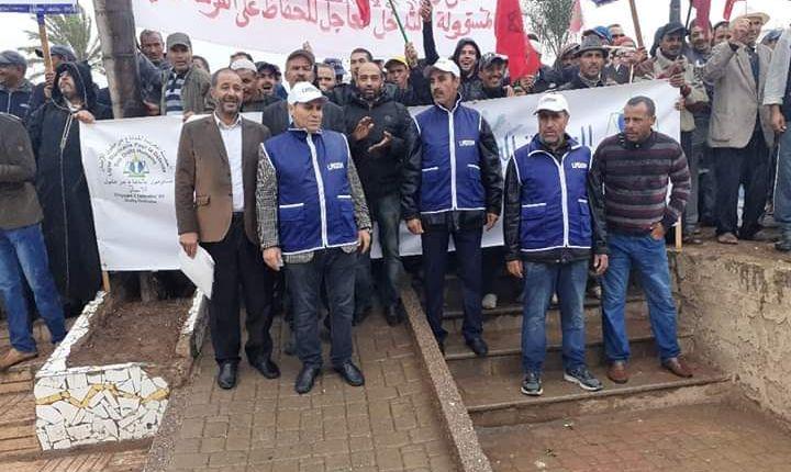برشيد… الإحتجاج على الاستغلال الجائر للمياه الجوفية