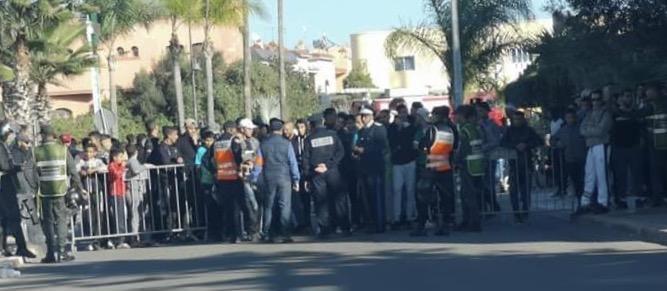 عاجل: أمن برشيد يوقف 20 شخص من جماهير الرجاء قاموا بأعمال تخريبية