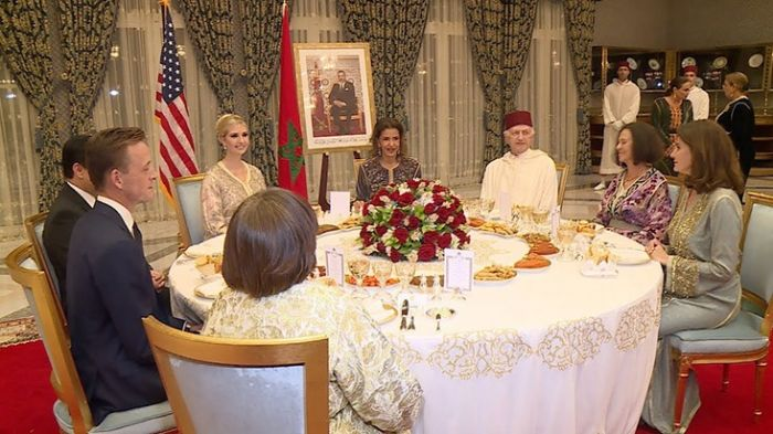 جلالة الملك يقيم مأدبة عشاء على شرف السيدة إيفانكا ترامب