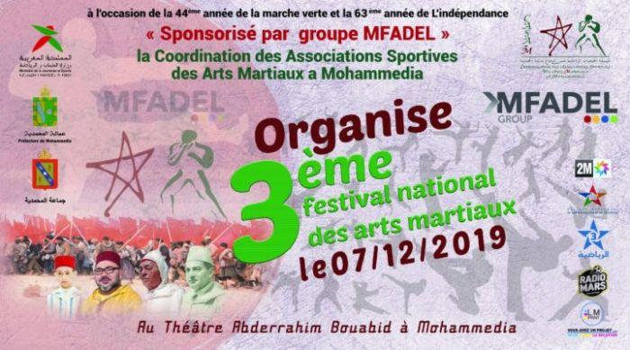 جمعيات رياضات الفنون الدفاعية بالمحمدية تنظم المهرجان الوطني الثالث للفنون الدفاعية
