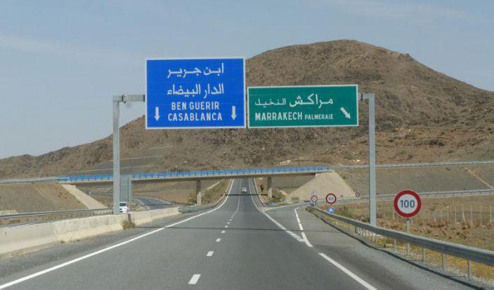 حركة السير تتوقف بجزء من الطريق السيار بين الدار البيضاء ومراكش لهذا السبب