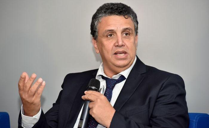 عبد اللطيف وهبي  القيادي في البام يعقد ندوة صحفية