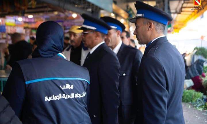 من أجل سلامة المستهلك…حملة تحسيسية الشرطة  الإدارية داخل سوق بازيل  بالحي المحمدي(صور)