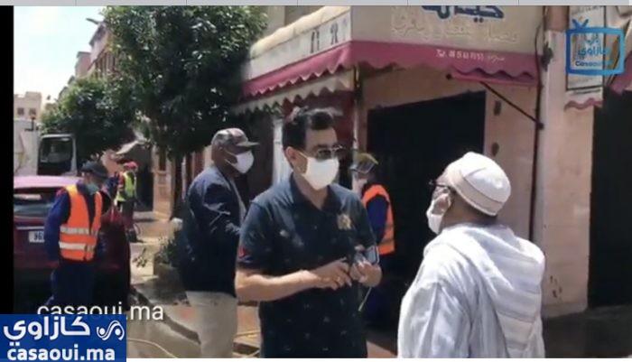 بالفيديو : جودار يشرف على عملية تعقيم شوارع وأحياء مقاطعة بن امسيك