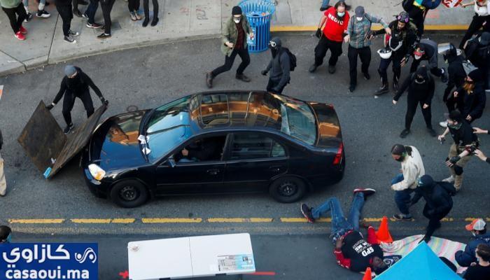 مقتل جورج فلويد.. رجل يدهس متظاهرين في سياتل قبل أن يطلق عليهم النار