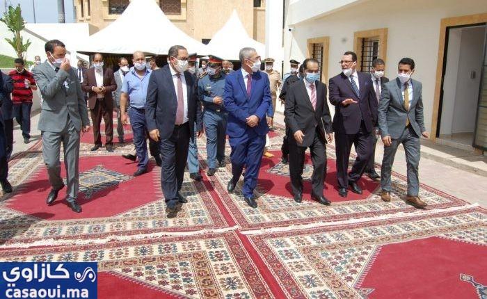 وزير العدل وعامل سطات يشرفان على افتتاح توسعة المحكمة الابتدائية بسطات.