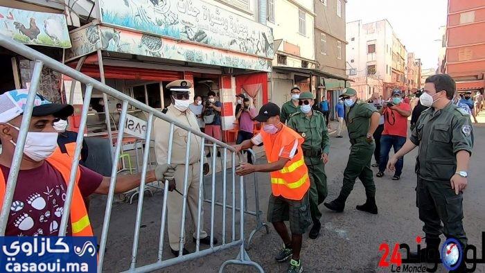 تخفيف قيود الحجر على سكان حي المعاكيز بالبرنوصي