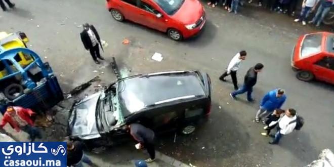 انقلاب سيارة يتسبب في إصابة أربعة أشخاص بالدار البيضاء
