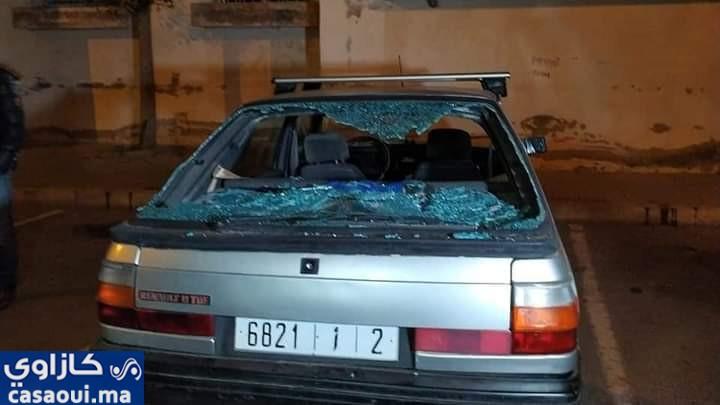 عصابة الملثمين تخرب 40 سيارة بالحي الحسني