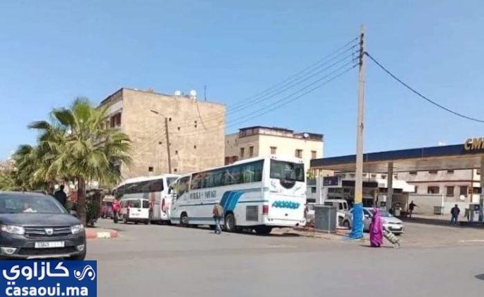 الدار البيضاء : تحويل شارع محمد السادس إلى موقف للحافلات