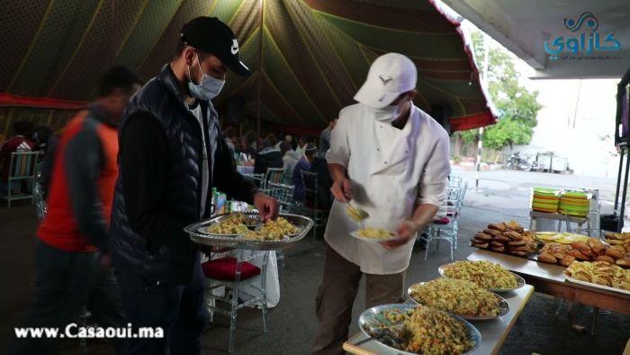 بالفيديو: عين السبع الحي المحمدي : إيواء 100شخص  من المتخلى عنهم أو دون مأوى