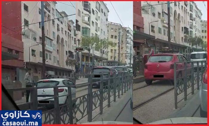 الدار البيضاء:توقيف متورطين في عرقلة سكة الترامواي