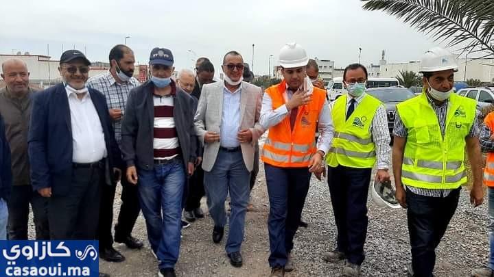 مستشارو مقاطعة سيدي عثمان في زيارة للسرداب