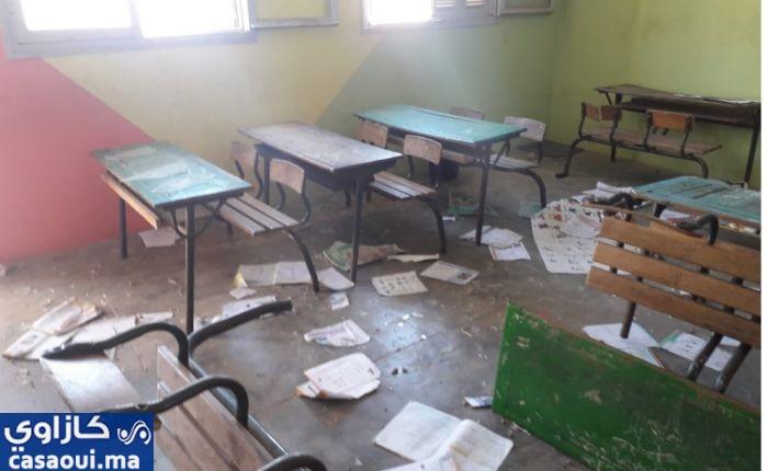 سيدي بنور:إتلاف محتويات مؤسسة تعليمية