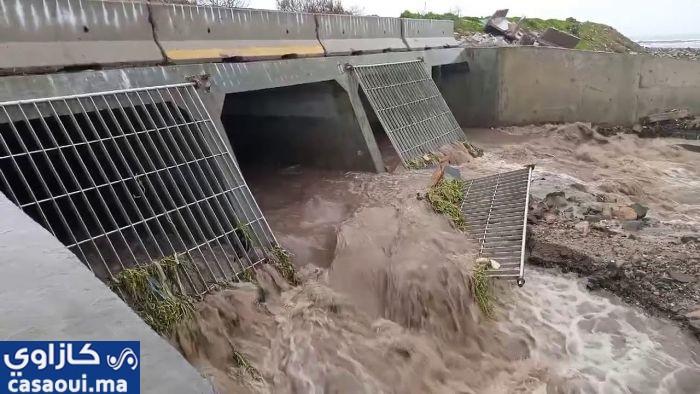 """الوزير اعمارة يبشر البيضاويين بـ """"محاصرة """" خطر فيضان واد بوسكورة"""