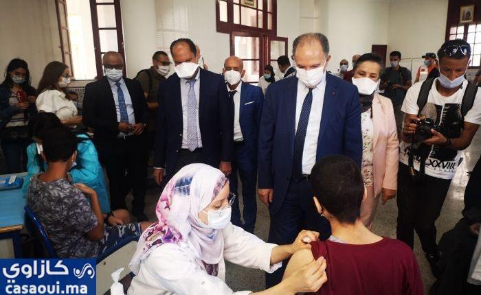 بالصور..اقبال لافت لتلاميذ جهة البيضاء سطات على مراكز التلقيح